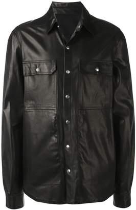 Rick Owens leather shirt jacket