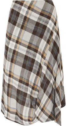 Vivienne Westwood Vasari Asymmetric Tartan Brushed-twill Skirt - Gray