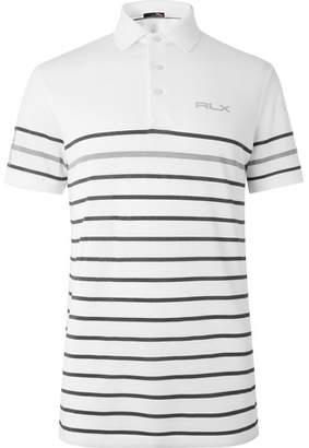 RLX Ralph Lauren Striped Tech-Piqué Polo Shirt