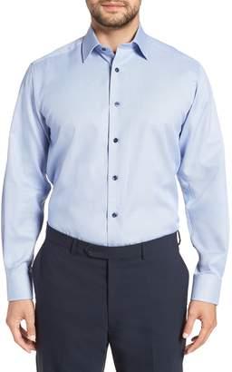 David Donahue Regular Fit Solid Dress Shirt