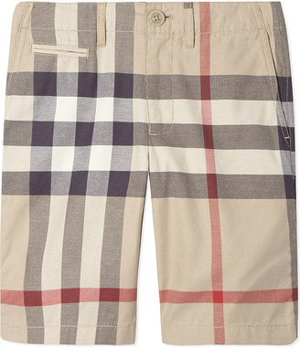 Burberry Tristan check cotton shorts 4-10 years $95 thestylecure.com