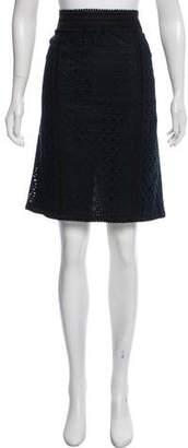 Andrew Gn Eyelet Knee-Length Skirt
