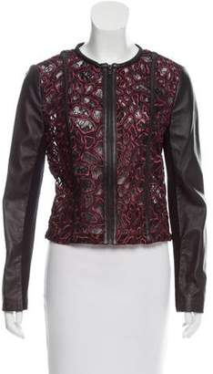 Yigal Azrouel Collarless Lace Jacket