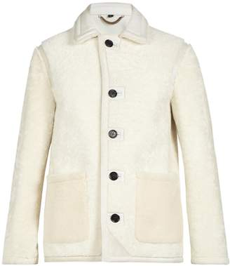 Burberry Point-collar shearling jacket