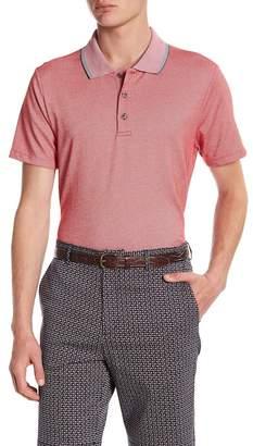 Perry Ellis Jacquard Knit Polo Shirt