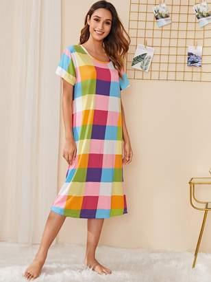 Shein Plaid Night Dress