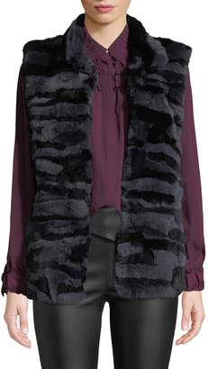 Love Token Rabbit Fur Channel Vest