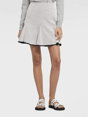 DKNY Jacquard Flared Mini Skirt