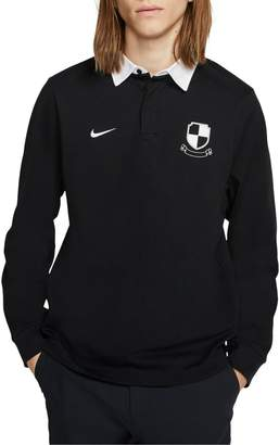 Nike Sb Long-Sleeve Cotton-Blend Rugby Polo