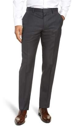 BOSS Genesis Flat Front Stripe Wool Trousers