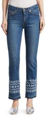 Derek Lam 10 Crosby Jane Embroidered Ankle Jeans