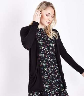 New Look Petite Black Longline Cardigan