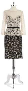 Tadashi Shoji Illusion Neck Lace Dress
