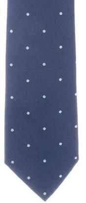 Loro Piana Silk Polka Dot Print Tie