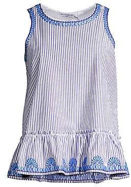 Vineyard Vines Women's Sarah Stripe Embroidered Peplum Top