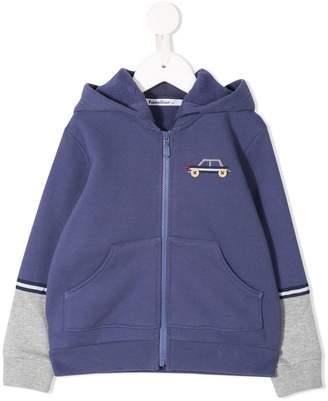 Familiar two-tone hoodie