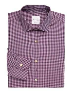 Paul Smith Regular-Fit Gingham Print Dress Shirt