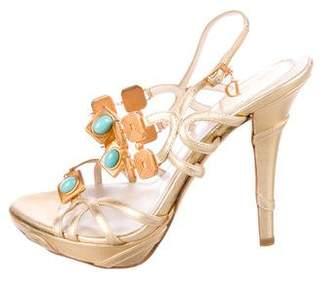 Christian Dior Leather Platform Sandals