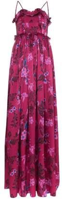 Balenciaga Summer sleeveless floral jacquard silk gown