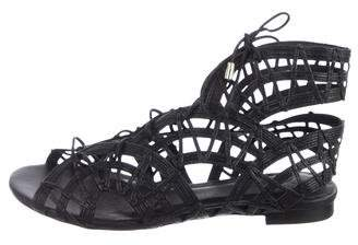Joie Leather Cage Sandals