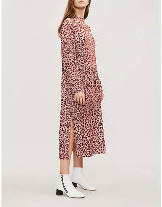 Rag & Bone Gia devoré leopard-print dress