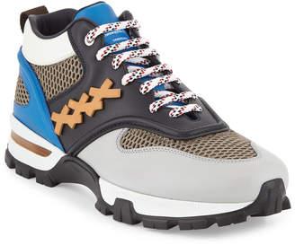 Ermenegildo Zegna Men's Cesare Colorblock Hiker Sneakers