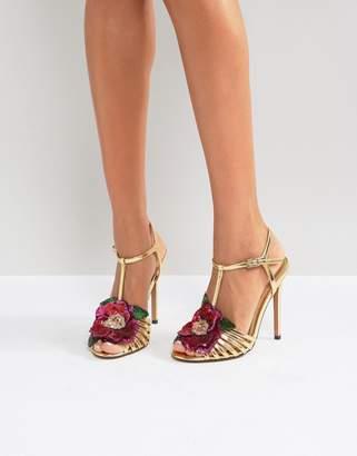 Asos HONEY BLOOM Embellished Heeled Sandals