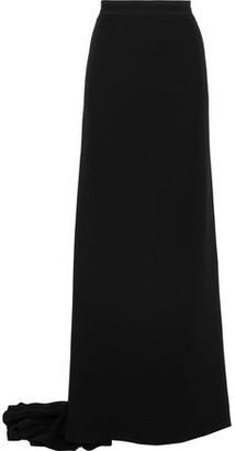 Carolina Herrera Grosgrain-Trimmed Silk Crepe De Chine Maxi Skirt