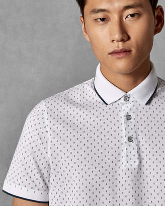Ted Baker TOFF Geo print cotton polo shirt