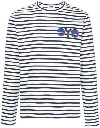 Junya Watanabe striped slogan top