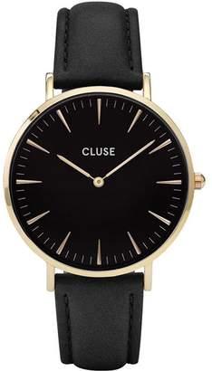 Cluse Women's La Boheme 38mm Leather Band Metal Case Quartz Watch CL18401