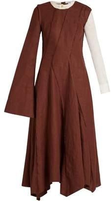 Loewe Asymmetric long-sleeved dress