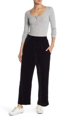 Elodie Elastic Waist Velvet Pants