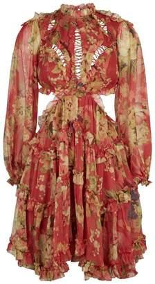 Zimmermann Melody Lace-Up Mini Dress