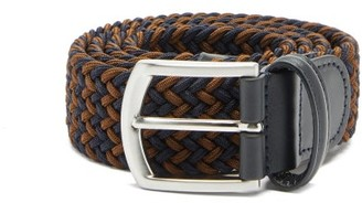 Andersons Anderson's - Woven Elasticated Belt - Mens - Navy/dk Olive