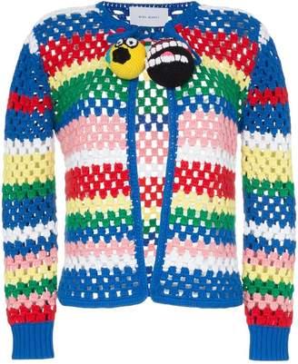 Mira Mikati pom-pom crochet knit cardigan