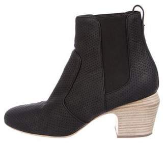 Fendi Perforated Leather Ankle Boots