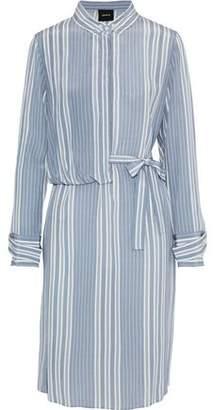 Akris Striped Silk Crepe De Chine Shirt Dress