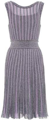Missoni Metallic striped crochet dress