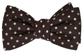 Alexander McQueen Polka Dot Jacquard Bow Tie - Mens - Black