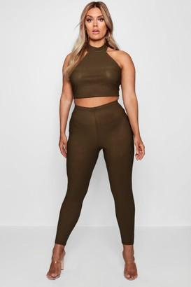 boohoo Plus High Waist Skinny Trouser