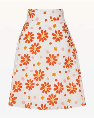 Juicy Couture Dotted Daisy Silk Flirty Skirt