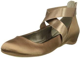 Kenneth Cole Reaction Women's Pro-time Ballet Flat with Elastic Ankle Strap