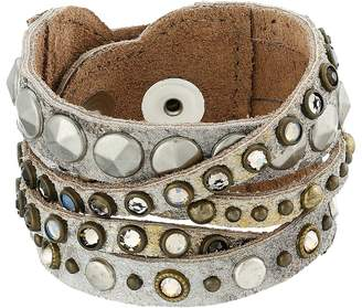 Leather Rock B513 Bracelet