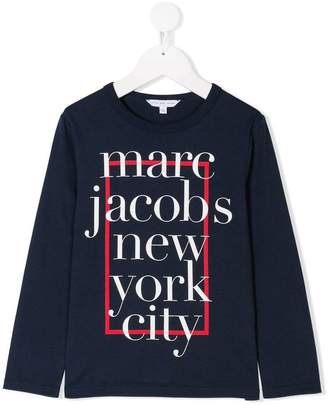 Little Marc Jacobs logo print jersey T-shirt