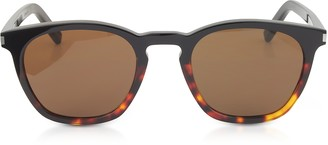 Saint Laurent SL 28 Two-Tone Acetate Frame Sunglasses