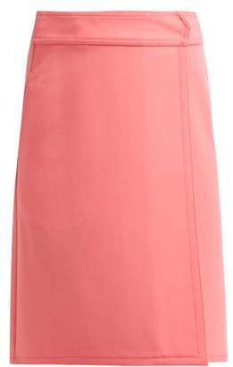 A.P.C. Wrap Front A Line Skirt - Womens - Pink