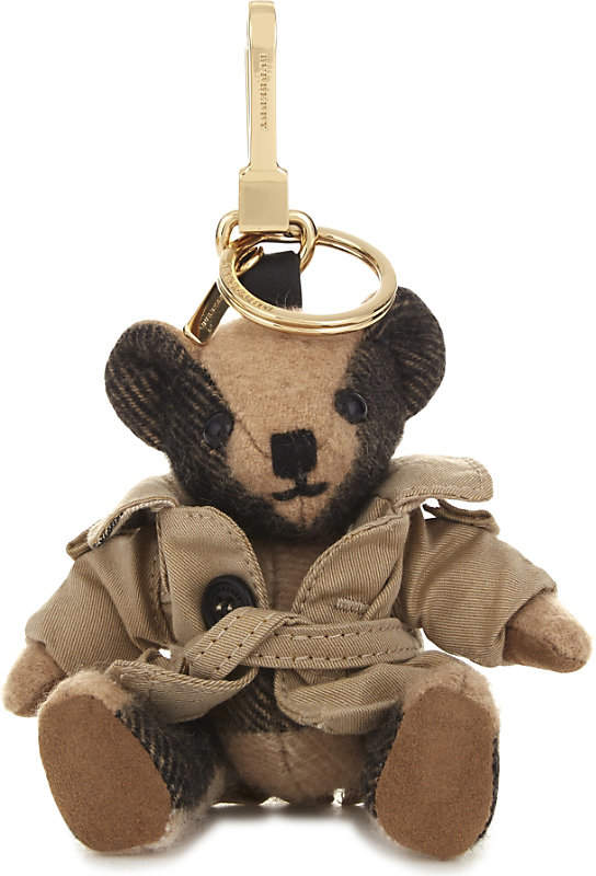 Burberry Thomas Bear check cashmere charm with coat 12cm