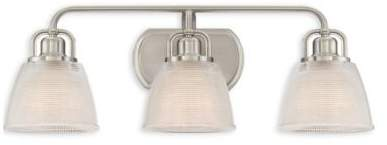 Quoizel Dublin 3-Light Bath Fixture in Brushed Nickel