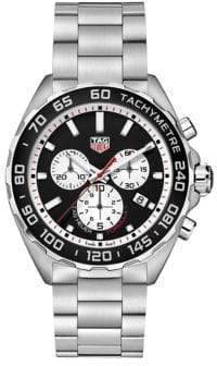 Tag Heuer Formula 1 Brushed Stainless Steel Quartz Chronograph Watch